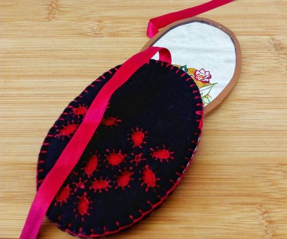 Woodland Fairy Mirror, Handmade Pocket Mirror - image 5