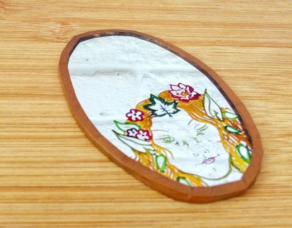 Woodland Fairy Mirror, Handmade Pocket Mirror - image 4