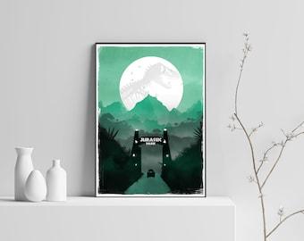 Jurassic Park Digital File Movie Poster