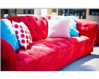Red sofa | Etsy