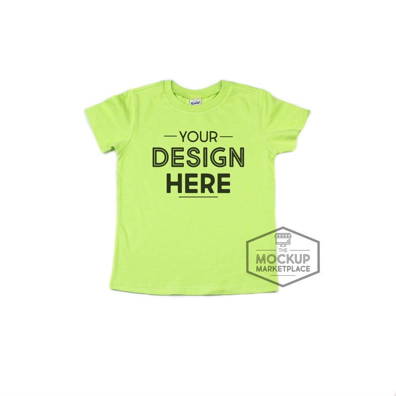 82f60314 Kavio Tee Mockup Lime Green Unisex Crew Neck T-shirt Flat | Etsy