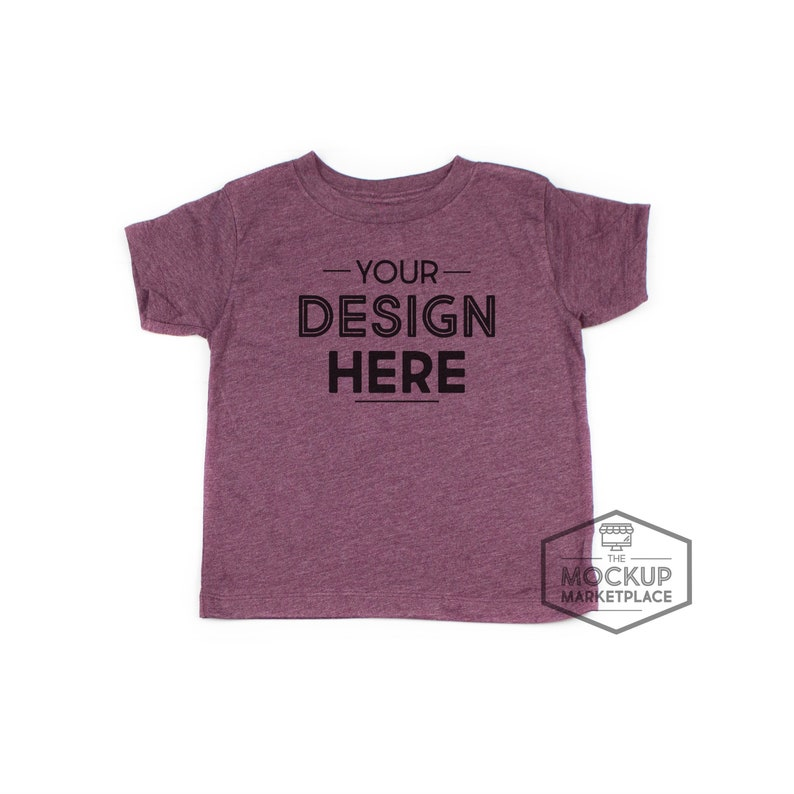 ddf348cd1 Bella Canvas 3001T Heather Maroon Unisex Toddler T-Shirt Set | Etsy
