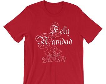 1390c1d2b Feliz Navidad | Unisex T-Shirt | Spanish Christmas Shirt | Christmas Tee |  Christian Shirt | Merry Christmas Shirt | Advent | Plus Size 4X
