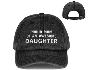 0e0282ea Gift For Mom, Daughter Mom Gift, Mom Hat, Mother Of Daughter, Mom Of  Daughter, Gift From Daughter, Proud Mom, Baseball Cap, Graduation Cap