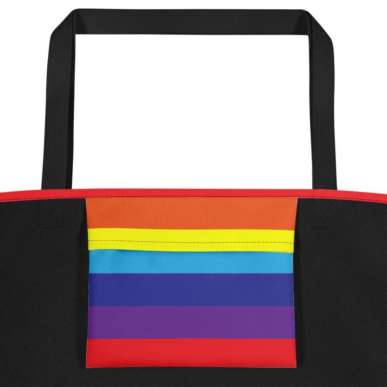 Pride Beach Tote Rainbow Beach Bag Rainbow Tote Bag Rainbow Pride Bag Rainbow Pattern Gay Pride Pride Rainbow Bag LGBT Rainbow Print