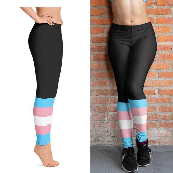 Transgender Pride Festival Leggings,Trans Yoga Leggings,trans pride training leggings,transgender ftm leggings,transgender mtf leggings