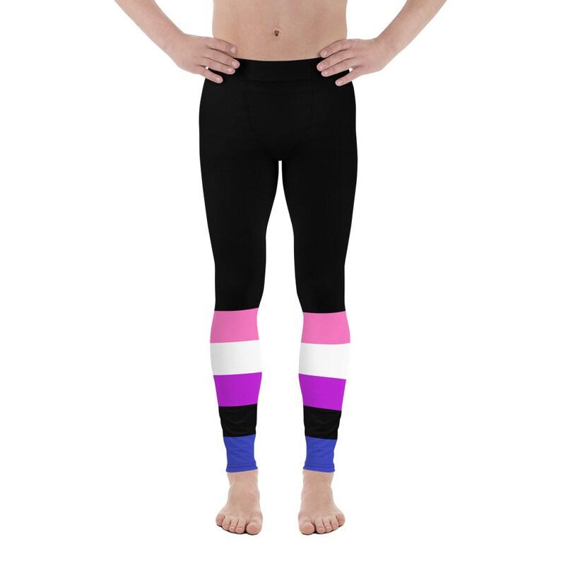 Gender Fluidity Gym Leggings Genderfluid Pride Pants Gender Fluid Workout Leggings LGBTQ+ Pride Festival Leggings Genderfluid Leggings