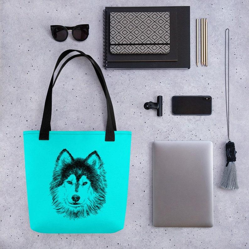 Husky Lover Gift Dog Bag Animal Shopping Bag Dog Lover Gift Siberian Husky Shoulder Bag Dog Tote Animal Purse Husky Tote Bag Husky Bag