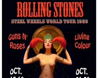 Rolling Stone - Steel Wheels Tour - LA 1989 - Poster 13x19