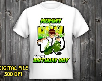 Mommy Ben 10 Iron On Transfer Birthday Shirt Instant Download