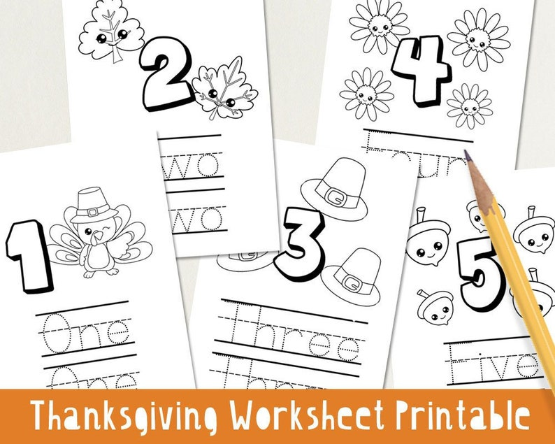 photo relating to Thanksgiving Puzzles Printable named Thanksgiving Worksheet Printable - Understand Quantities Study toward Produce  Little ones Adorable - Instantaneous A4 PDF Down load