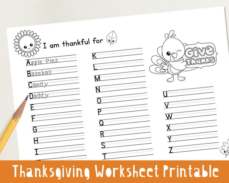 picture regarding Thanksgiving Puzzles Printable titled Thanksgiving Worksheet Printable - Understand ABCs Find out in the direction of Generate Youngsters Worksheet Kindergarten Lovely - Quick A4 PDF Obtain