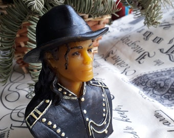 Michael Jackson beeswax candle - gift for collector - Michael Jackson bust - figure celebrity - memory souvenir for fan