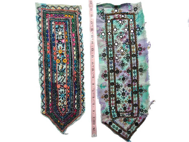 2 peas indian vintage banjara yoke patches gypsy traditional banjara patches handmade embroidery neck yokes mirror work patch ethnic patches