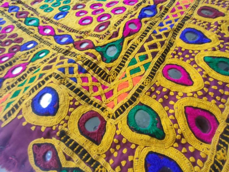 Vintage Banjara Handmade Neck Yoke Banjara Embroidery Front Choli  Vintage  Work Traditional Boho Art With Multicolor Banjara Mirror Work