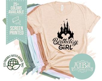 7d81a9cc5 Disney shirt, Birthday Girl Disney Shirt, Disney Birthday Shirt, Disney  Shirts