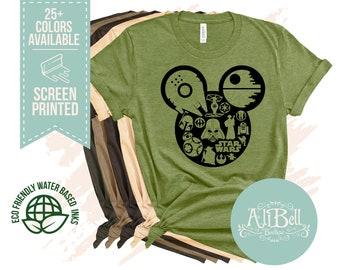 4817ad95 Star Wars Shirt, Mickey Mouse shirt, Disney Shirt, Star Wars Disney Shirts,  Family Disney Shirts, Unisex Star Wars Disney Shirt