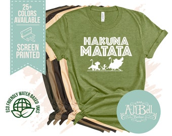 0406318f Hakuna Matata Disney Shirt, Animal Kingdom Shirt, Lion King Shirt, Unisex Disney  Shirts, Ladies Disney Shirt, Animal Kingdom