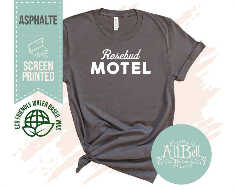 Top 27 Best Schitt's Creek Gifts from Etsy featured by top Seattle lifestyle blogger, Marcie in Mommyland: Rosebud Motel Shirt FREE Sticker GIFT SELECTION 32 36 Or image 3