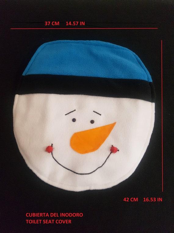 Remarkable Christmas Toilet Seat Cover Blue Snowman 3 Pcs Cjindustries Chair Design For Home Cjindustriesco