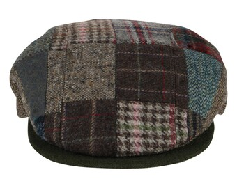 a3db8e583 Patchwork flat cap | Etsy