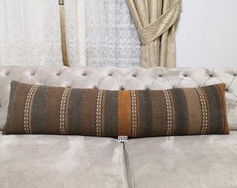 Cushion Cover Bohemian Kilim Pillow Hadwoven Kilim Pillow Couch Pillow 12x48 Pillow Cover Throw Pillow Decorative Turkish Kilim Pillow