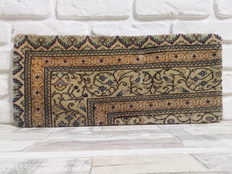 Brown Color Lumbar Pillow 10x24  inches Turkish Vintage Carpet Lumbar Sofa Pillow Cover Home Decor Kilim pillow Decorative Pillow Cushion