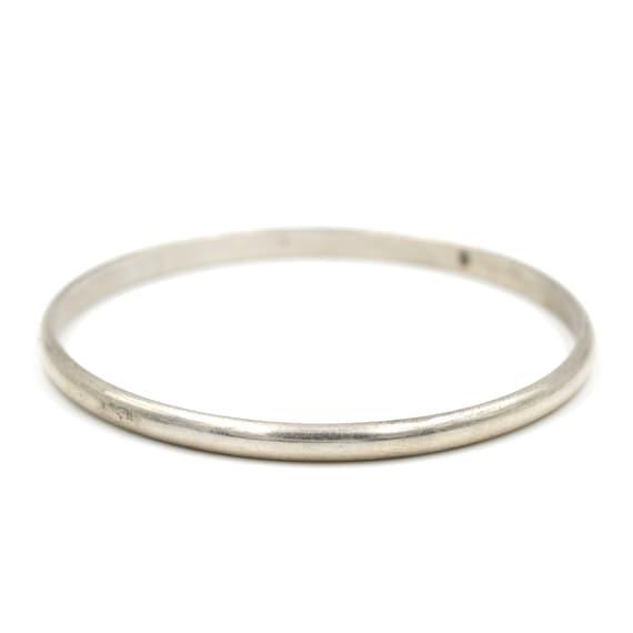 Solid Sterling Silver Bangle Bracelet // Simple Ba