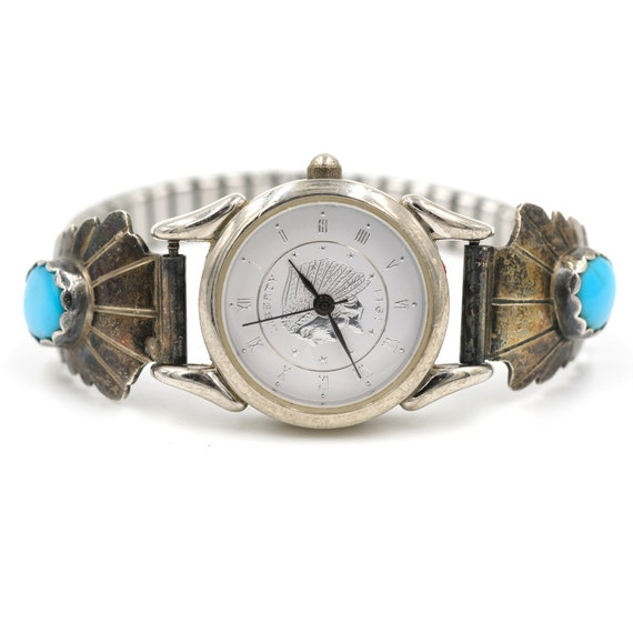 Turquoise Sterling Watch Tips // Liberty 1911 Watc