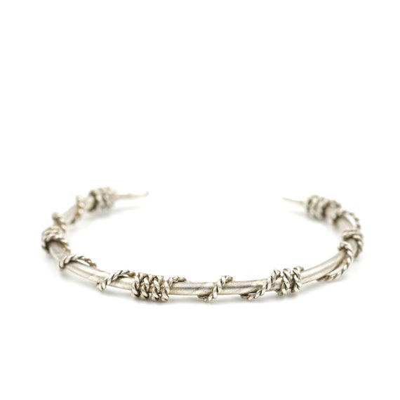 Twisted Sterling Silver Cuff Bracelet // Classic S