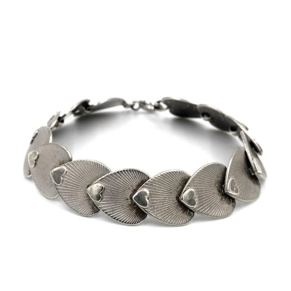 Sweetheart Link Sterling Silver Bracelet // Silver