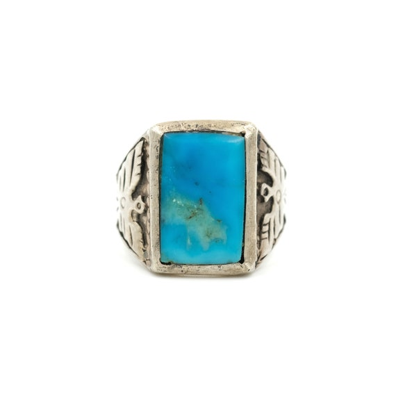 Size 11.25 // Sterling Thunderbird Turquoise Ring
