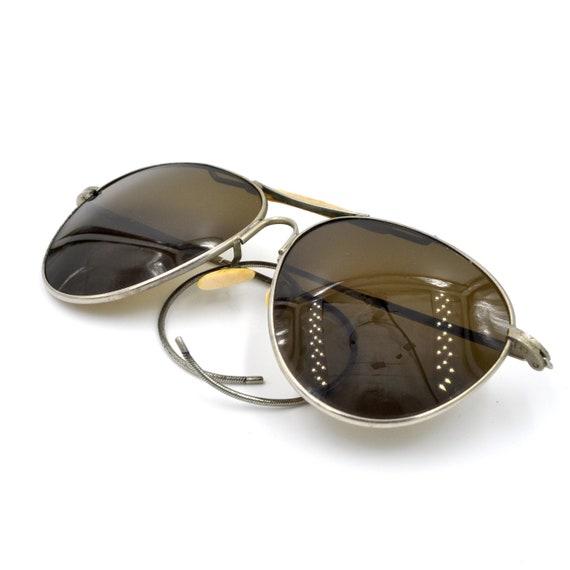 1940s Aviator Sunglasses with Case - Vintage Sungl