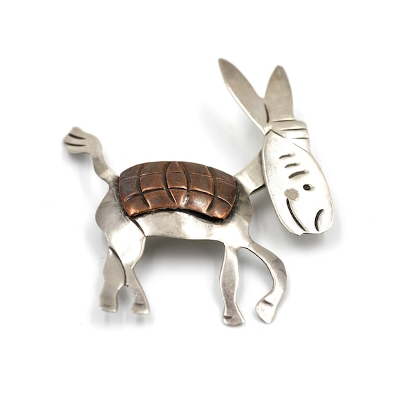 1960s Taxco Donkey Pin // Articulating Donkey Pin