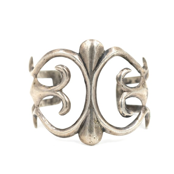 Heavy Sterling Sandcast Cuff (52.5gr) // Vintage S