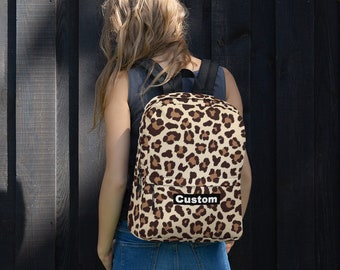 Custom Leopard Print Backpack  d51c3d0bf735d
