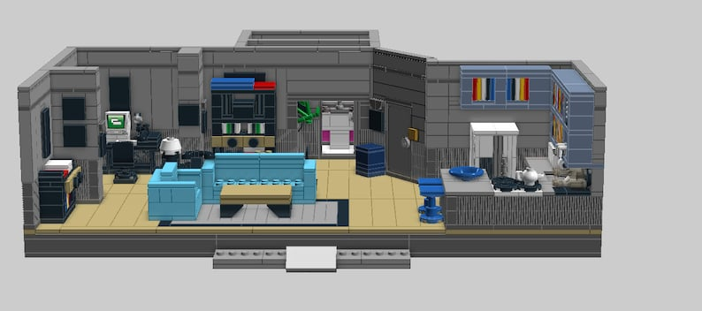 LEGO Seinfeld Apartment MOC Digital PDF Instructions and Printable  Decals/Stickers