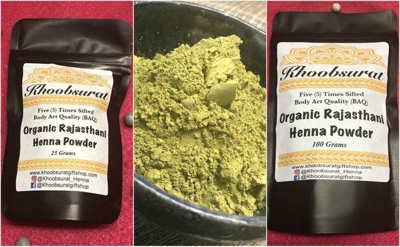 Organic Rajasthani Henna Powder Bridal Premium Baq Quality Etsy