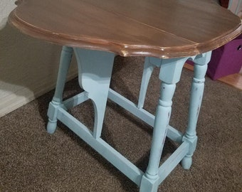 Drop Leaf Side Table Etsy