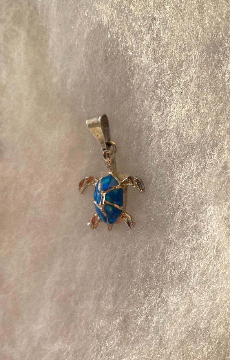 Sterling SilverOpal Turtle Pendant