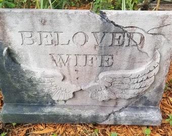 BELOVED WIFE Authentic Handmade Halloween Tombstone Prop Halloween Decor Yard Art