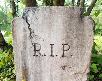 R.I.P. Authentic Handmade Halloween Tombstone Prop Halloween Decor Yard Art