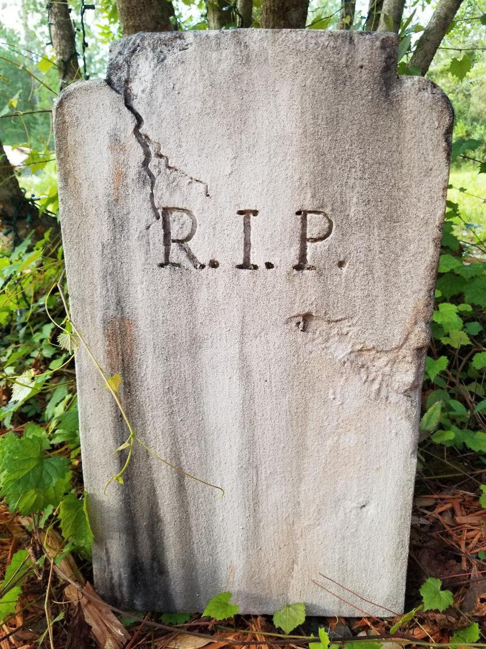 Foam Halloween Graveyard Tombstones