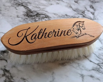 Beautiful Custom Engraved Horse Brush -Soft Finishing Brushes and more!-