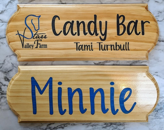 Custom Engraved Stall Signs