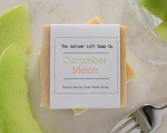 Cucumber Melon Goat Milk Soap - Handmade, Small Batch