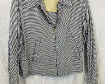 42 chest sportop 1950s sharkskin rockabilly button-up embroidered shirt