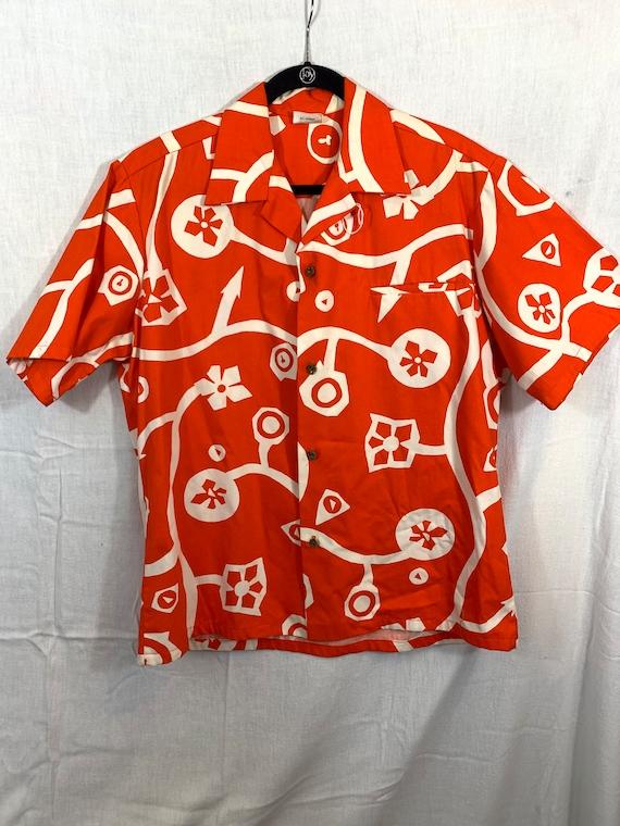 Vintage 1960's Hawaiian shirt size XL