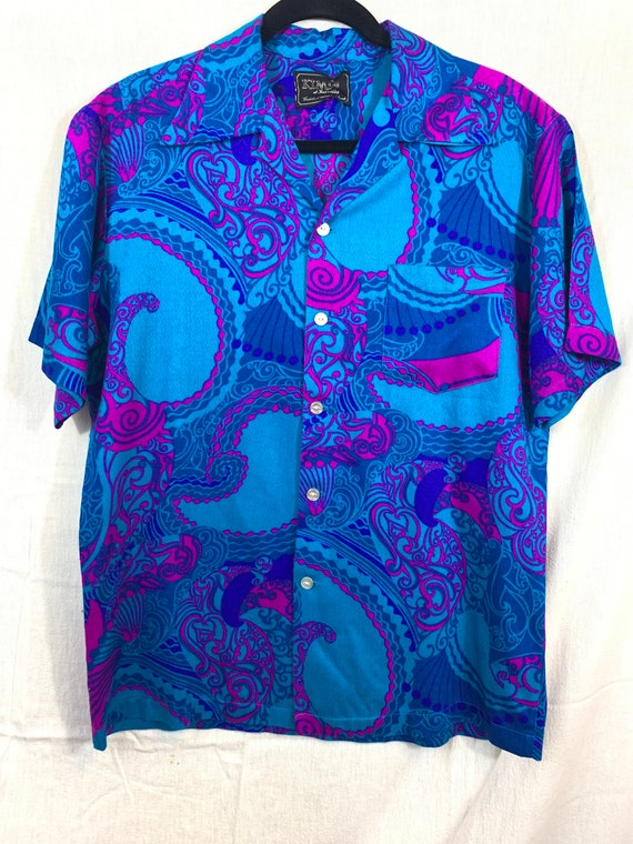 Vintage 1960's Hawaiian Shirt sz M