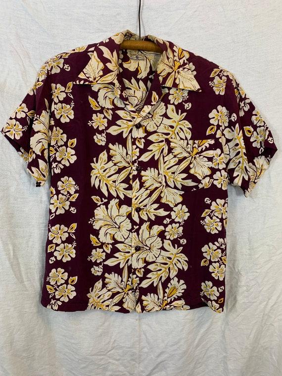 1940's Hawaiian shirt Rayon S/M